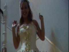 Braut bei Bukkake Party vollgespritzt